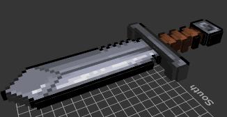 Epée en fer 3D